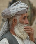 A 3/11/2012 photograph in profile of Haji Abdul Samad, the uncle of Mohammad Wazir of Najiban, Panjwai