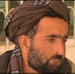 Screen-captured image of Mohammad Wazir of Najiban village speaking to SBS-TV reporter Yalda Hakim in late March, 2012 about the murder of 11 of his relatives on March 11, 2012