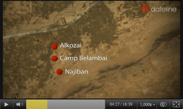 SBS-TV map image of the two Panjwai district villages in Afghanistan attacked on March 11, 2012