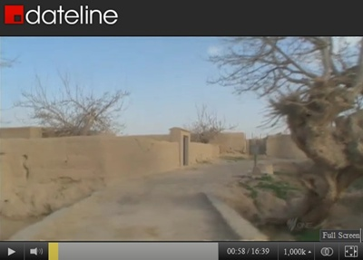 Image of Alkozai village in Panjwai district, Kandahar, Afghanistan, from March 23, 2012 footage by SBS-TV of Australia