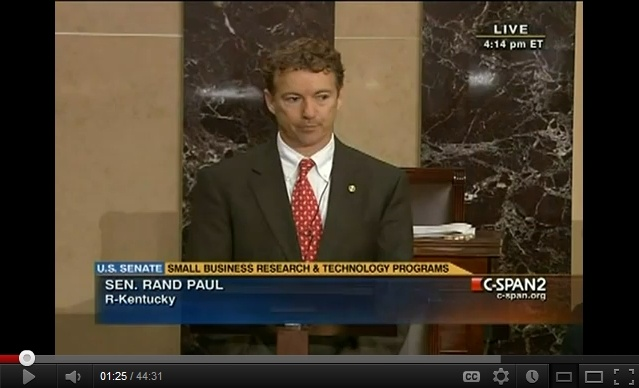 Floor debate of Senators Paul and Durbin re Libya, March 30, 2011