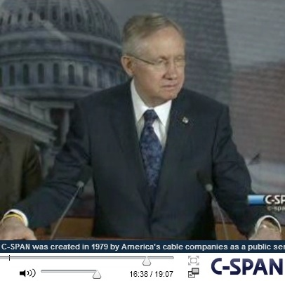 Senator Harry Reid expressing support for Attorney General Holder's 3/5/12 speech