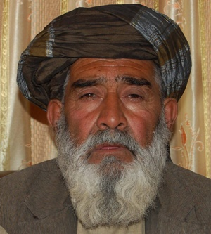 A photograph, taken in July, 2012 by Mamoon Durrani, of farmer Sayed Jan of Alkozai, whose wife, brother, nephew, and niece were murdered on March 11, 2012